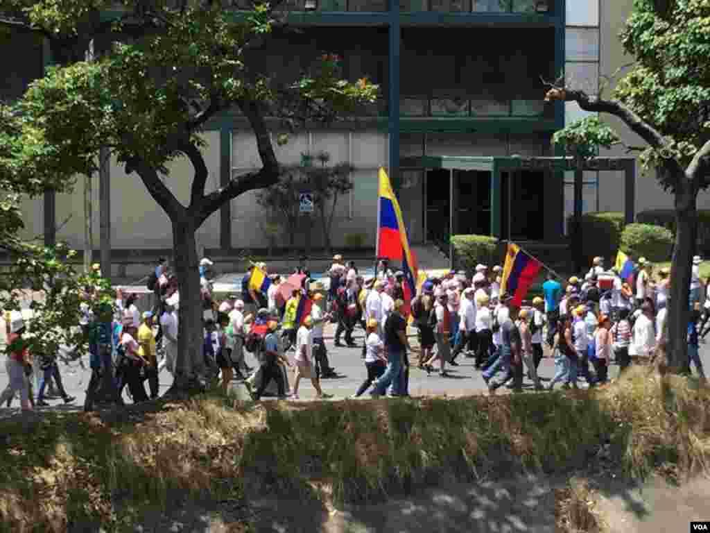 تظاهرات حامیان خوان گوایدو، رئیس جمهوری موقت ونزوئلا، در کاراکاس
