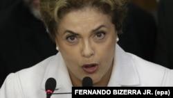 Dilma Rousseff bayan majalisar dattawan kasar ta dakatar da ita daga kan mulki.