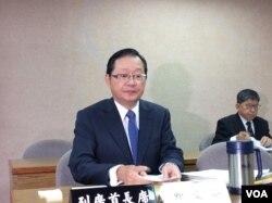 台湾外长李大维在立法院備询 (申华 拍摄)