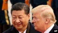 지난해 9월 중국을 방문한 도널드 트럼프 미국 대통령과 시진핑 중국 국가주석이 베이징 인민대회당에서 열린 환영식에 참석했다.
