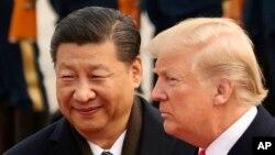 Ông Tập và ông Trump trong cuộc gặp năm 2017.