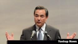 왕이 중국 외교부장. (자료사진)