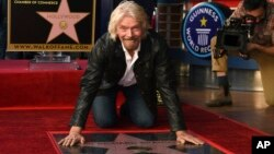 ریچارد برانسون صاحب ستاره ای در تالار مشاهیر هالیوود شد
