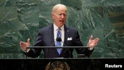 Predsjednik Joe Biden govori na 76. zasjedanju Generalne skupštine UN u New Yorku, 21. septembra 2021.
