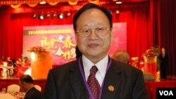 中國台企聯榮譽會長張漢文表示,去年東莞台資工廠出現倒閉潮。(美國之音湯惠芸拍攝)