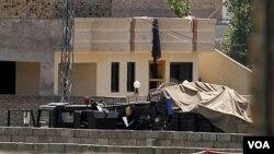Recinto de la casa donde se encontraba Osama bin Laden en Abbottabad, Pakistán.