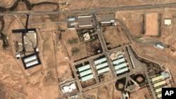 衛星圖像顯示在伊朗首都德黑蘭東南30公里帕爾欽的核設施。 (資料圖片)