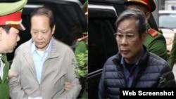 Hai cựu bộ trưởng Bộ Thông tin và Truyền Thông: Trương Minh Tuấn (trái) và Nguyễn Bắc Son.