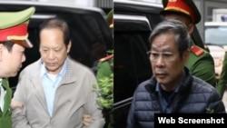 Hôm 16/12, hai cựu Bộ trưởng Thông tin và Truyền thông Nguyễn Bắc Son và Trương Minh Tuấn đã ra hầu tòa. Photo CAND.
