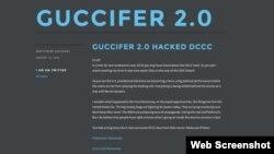Ảnh chụp màn hình website của hacker Guccifer 2.0, ngày 13 tháng 08 năm 2016.