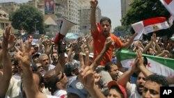 تحریر چوک میں صدر مرسی کی حمایت میں مظاہرہ