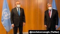 Dışişleri Bakanı Mevlüt Çavuşoğlu ve BM Genel Sekreteri Antonio Guterres