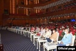 ျပည္ေထာင္စုၿငိမ္းခ်မ္းေရးညီလာခံ - (၂၁) ရာစုပင္လုံ စတုတၳအစည္းအေဝးဖြင့္ပြဲအခမ္းအနား ျမင္ကြင္း။ (ဓာတ္ပံု - Union Peace Conference - 21st Century Panglong's Facebook - ၾသဂုတ္ ၁၉၊ ၂၀၂၀)
