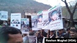 مظفر آباد میں علیحدگی پسند کشمیری راہنما مقبول بٹ کی برسی پر ریلی