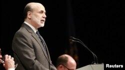 El presidente de la Reserva Federal de Estados Unidos, Ben Bernanke, habló este lunes en el Club Económico de Indiana, en Indianápolis.