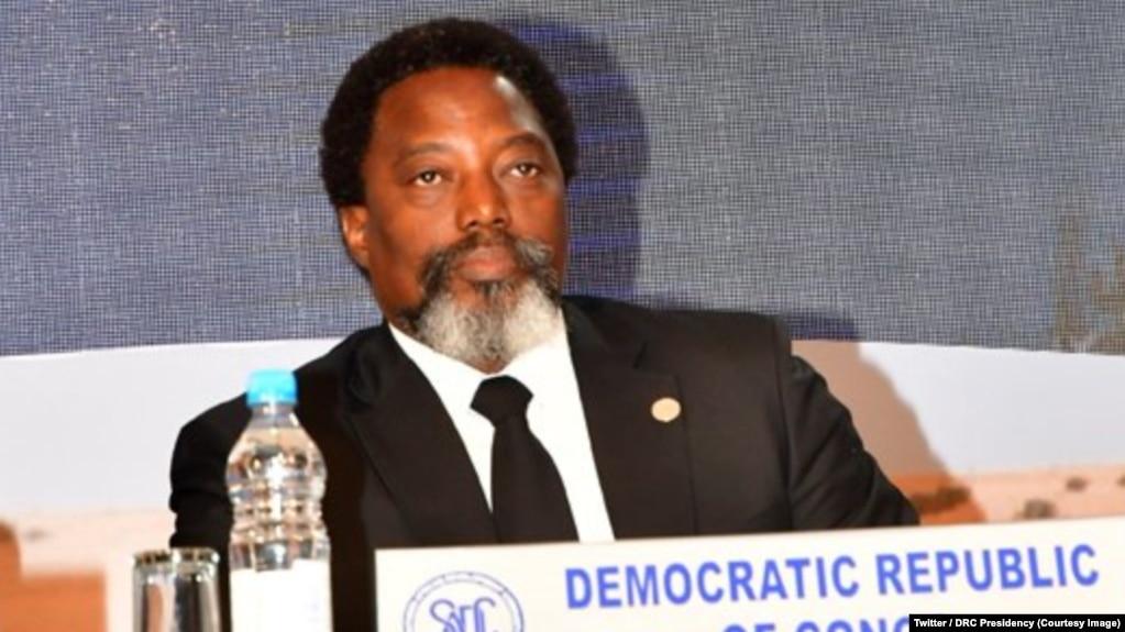 Le président congolais Joseph Kabila, lors du 38e sommet de la Communauté de développement de l'Afrique australe (SADC) à Windhoek, Namibie, 17 août 2018. (Twitter/Présidence RDC)