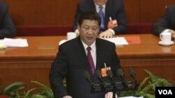 中國國家主席習近平3月17日在北京人大會議的閉幕式上