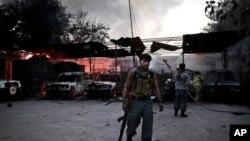 被襲擊的紅十字會辦事處現場