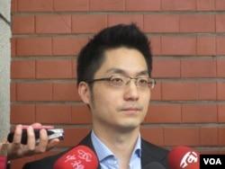 台灣在野黨國民黨立委蔣萬安(美國之音張永泰拍攝)