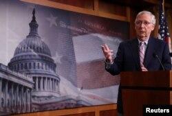 Mitch McConnell, líder de la mayoría republicana en el Senado de EE.UU.