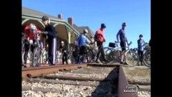 Залізничну колію перетворили на веломаршрут