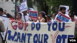 Protest pristalica imigracione reforme