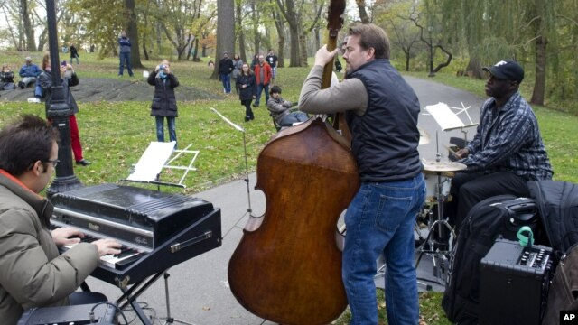 The Yosvany Terry Quartet performs at the inaugural Jazz & Colors Festival, Nov. 10, 2012, in New York's Central Park.
