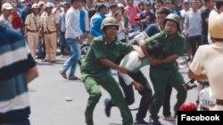 Chính quyền huy động đông đảo các lực lượng để ngăn, vây bắt người biểu tình.