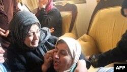 Ožalošćeni rodjaci ubijenog Palestinca, Dženin, Zapadna obala, 2. januar, 2011.