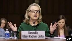 Ngoại trưởng Hillary Clinton điều trần trước Ủy ban Đối ngoại Thượng viện 23/1/13
