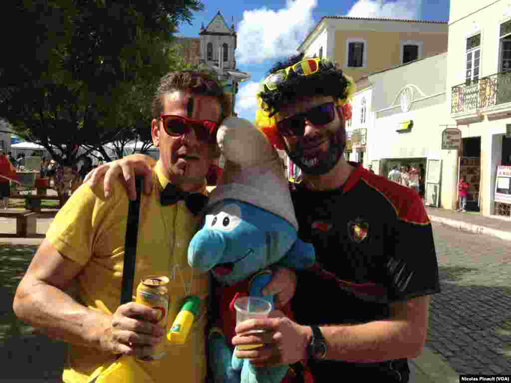 Les supporters belges n'ont pas oublié leur mascotte !