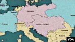 Djelimična mapa Evrope prije Prvog svjetskog rata