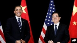 奥巴马总统会见胡锦涛主席(资料照片)