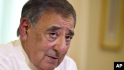 Defense Secretary Leon Panetta is interviewed by The Associated Press, Aug. 13, 2012, at the Pentagon.