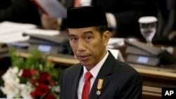 Presiden Joko Widodo saat menyampaikan pidato kenegaraaan di hadapan para anggota MPR/DPR RI, 14 Agustus 2015 (Foto: dok).