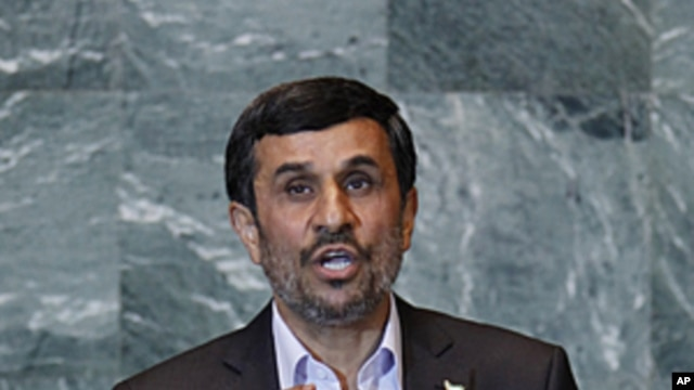 Iran's President Mahmoud Ahmadinejad addresses the 66th United Nations General Assembly at the U.N. headquarters in New York, September 22, 2011.