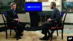 美國總統奧巴馬在YouTube網站上接受採訪