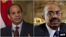 Le président égyptien Abdel Fattah al-Sissi et son président soudanais Omar el-Béchir.