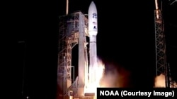 The GOES-R weather satellite at its launch