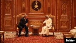 دیدار بنیامین نتانیاهو نخست وزیر اسرائیل و سلطان قابوس حاکم عمان در مسقط -