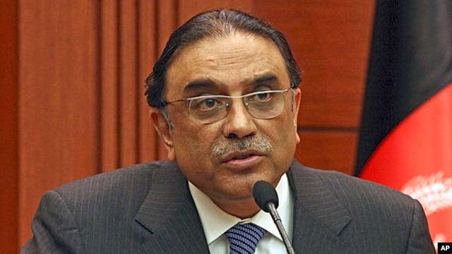 FILE - Pakistani President Asif Ali Zardari, Dec. 12, 2012.