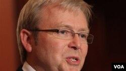 Menteri Luar Negeri Australia Kevin Rudd (foto: dok) mendukung upaya untuk mencapai perdamaian di Timur Tengah.