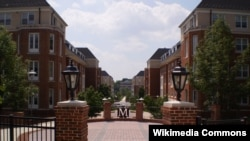 图为马里兰大学校园。