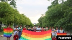 Демонстрация сторонников прав ЛГБТ. Фото Facebook