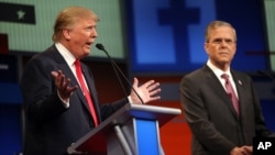 Donald Tramp va Jeb Bush