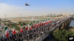 راهپیمایی روز چهارشنبۀ هواخواهان حکومت ایران