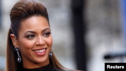 "Singer Beyonce Knowles performs on NBC's ""Today"" show in New York."