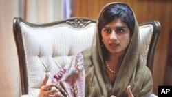 巴基斯坦外交部長希娜.拉巴尼.哈爾。