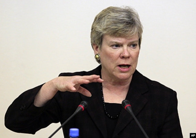 FILE - Undersecretary of State for Arms Control and International Security Rose Gottemoeller.