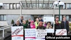 အိုင္ယာလန္ႏိုင္ငံ Galway ၿမိဳ႕က ေဒၚေအာင္ဆန္းစုၾကည္ကို ခ်ီးျမွင့္ထားတဲ့ Freedom of the City ၿမိဳ႕ရဲ႕ဂုဏ္ထူးေဆာင္ဆုကို ျပန္ၿပီးရုပ္သိမ္းဖို႔ ၿမိဳ႕ေတာ္ေကာင္စီအဖဲြ႔ရဲ႕ဆံုးျဖတ္ခ်က္ကို ႀကိဳဆိုေနတဲ့ Rohingya Action Ireland, ၂-၁၂-၂၀၁၉
